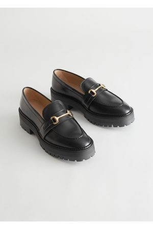 adidas Buckled Chunky Leather Loafers