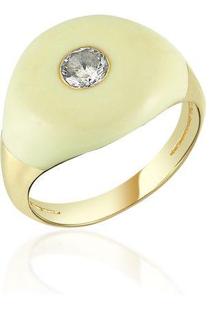 adidas Women's Les Bonbons Enameled 14K Yellow Gold Quartz Ring - - Moda Operandi - Gifts For Her