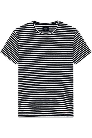 Hackett Linen Navy Stripe S Navy / White