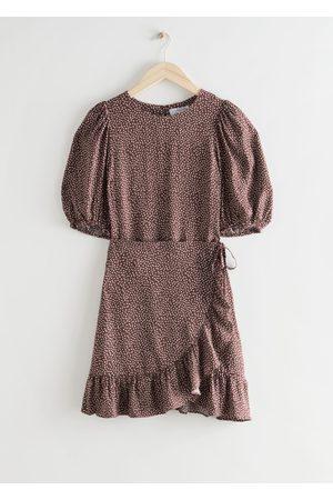 & OTHER STORIES Ruffled Puff Sleeve Mini Dress
