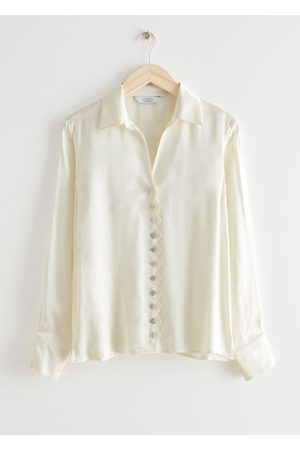 & OTHER STORIES Women Blouses - Scalloped Button Up Blouse