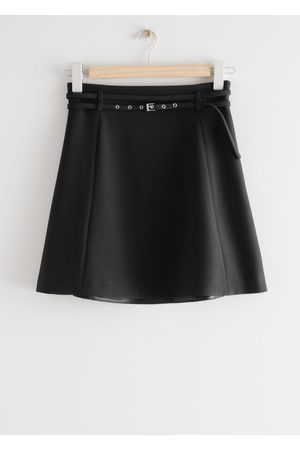 & OTHER STORIES Belted Floaty Mini Skirt