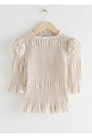 & OTHER STORIES Fitted Smocked Ruffle Top
