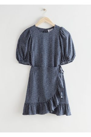 & OTHER STORIES Women Party Dresses - Ruffled Puff Sleeve Mini Dress