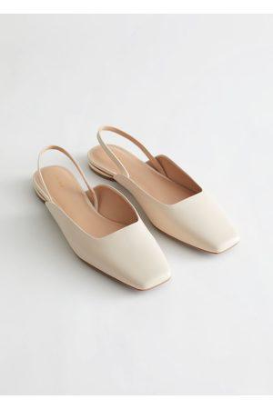 & OTHER STORIES Women Ballerinas - Leather Square Toe Ballerina Flats