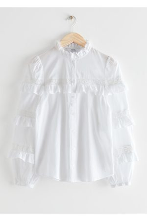 & OTHER STORIES Women Blouses - Button Up Ruffle Embroidery Blouse