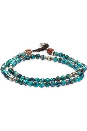 Mikia Men Bracelets - Double-Wrap Beaded Bracelet