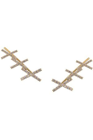 ALINKA Women Earrings - 18kt KATIA diamond cuff earrings - Metallic