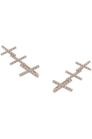 ALINKA 18kt KATIA diamond cuff earrings - Metallic