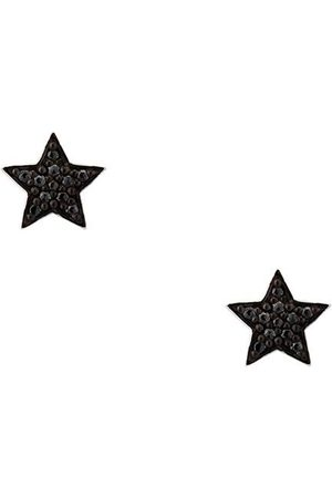ALINKA Black rhodium 18kt white STASIA MINI Star diamond stud earrings - Metallic