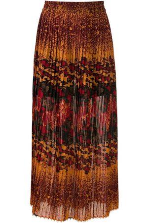 Comme des Garçons Women Midi Skirts - Bizet pleated midi skirt - Multicolour