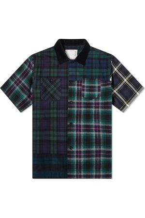 SACAI Men Casual - Flannel Plaid Mix Shirt