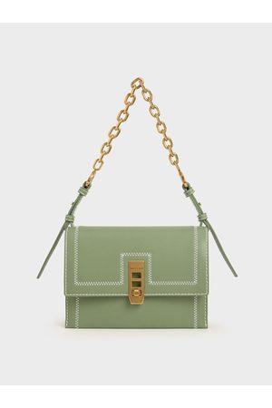 CHARLES & KEITH Turn-Lock Chain Handle Bag