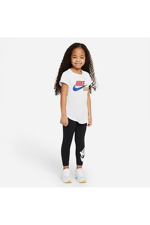 Nike Girls' Little Kids' High-Waisted Leggings in / Size 4 Nylon/Knit