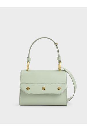 CHARLES & KEITH Studded Top Handle Bag
