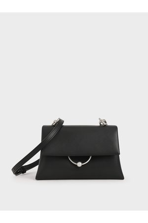 CHARLES & KEITH Geometric Chain Handle Bag