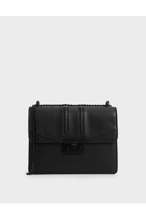 CHARLES & KEITH Metallic Push-Lock Shoulder Bag
