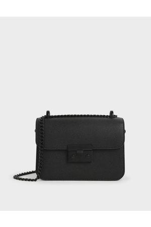CHARLES & KEITH Women Shoulder Bags - Classic Push-Lock Crossbody Bag