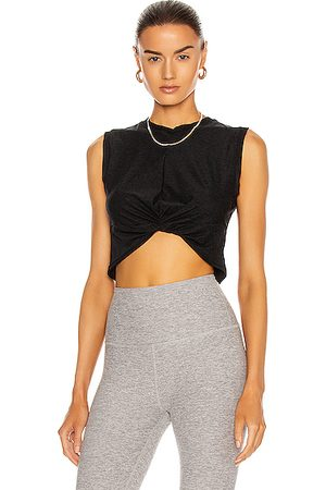 Beyond Yoga Twist Of Fate Cropped Tank in Black