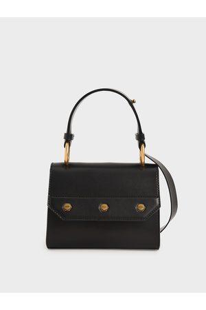CHARLES & KEITH Women Bags - Studded Top Handle Bag
