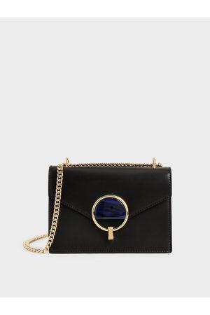 CHARLES & KEITH Women Shoulder Bags - Stone-Embellished Shoulder Bag