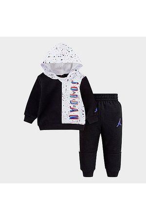 Nike Jordan Boys' Toddler Jordan Space Glitch Colorblock Pullover Hoodie and Jogger Pants Set in / Size 2 Toddler Cotton/Polyester/Fleece