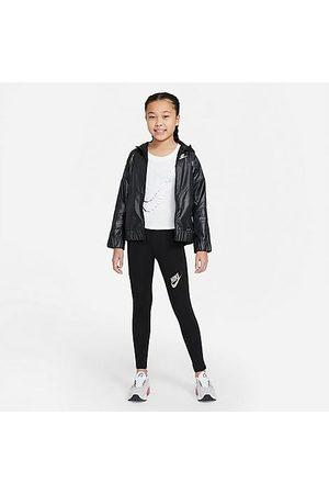 Nike Girls Sports Leggings - Girls' Sportswear Favorites High-Waisted Leggings in / Size Small Cotton/Spandex/Knit