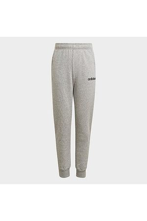 adidas Kids' Originals Sliced Trefoil Jogger Pants in Grey/Medium Grey Heather Size Small Knit