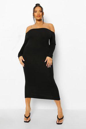 Boohoo Women Strapless Dresses - Womens Plus Off The Shoulder Midaxi Dress - - 12
