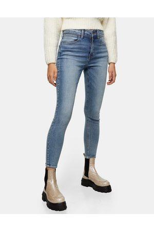 Topshop Skinny stretch jeans in mid denim-Blues
