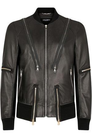 Dolce & Gabbana Multi-zip bomber jacket