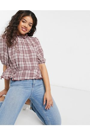 The East Order Pippa plaid print top in