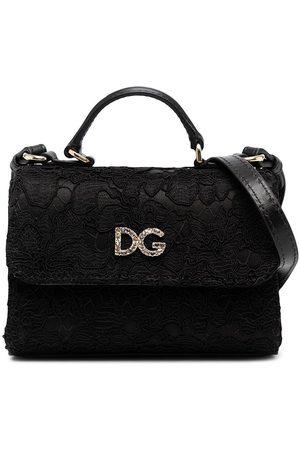 Dolce & Gabbana Crystal logo lace tote
