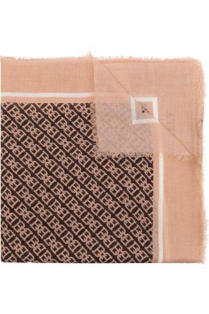 Bally Monogram print scarf