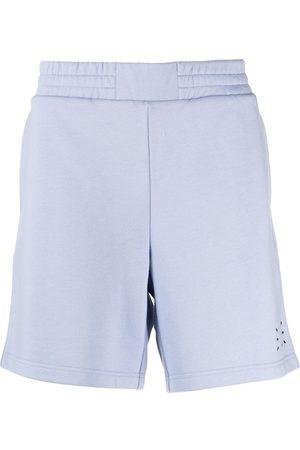 McQ Embroidered logo cotton track shorts