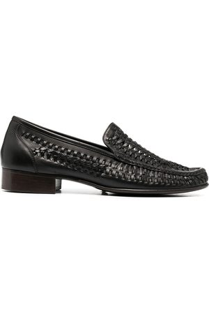 Saint Laurent Woven-detail loafers