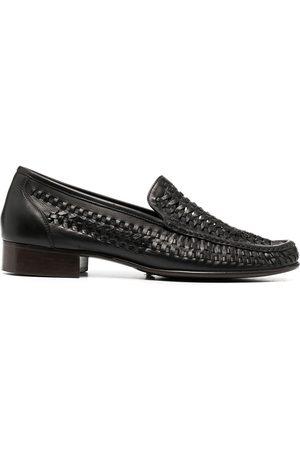 Saint Laurent Woven-detail loafers