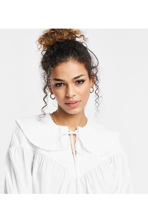 Ghost Poplin blouse with collar detail in