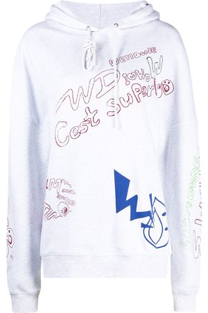 We11 Done All-over print drawstring hoodie