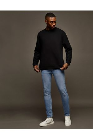 Topman Stretch skinny jeans in light wash-Blues