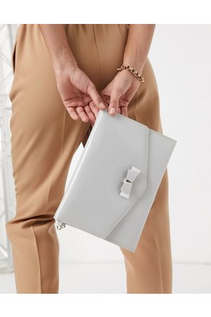 Ted Baker Harliee bow envelope clutch bag in -Grey