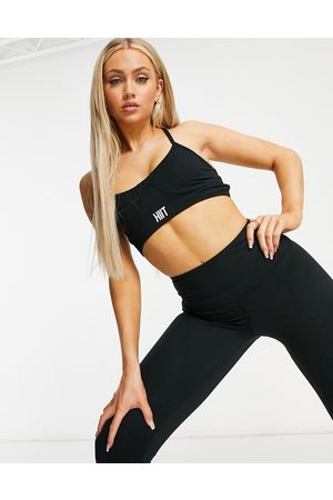 HIIT Peached lace up bra in