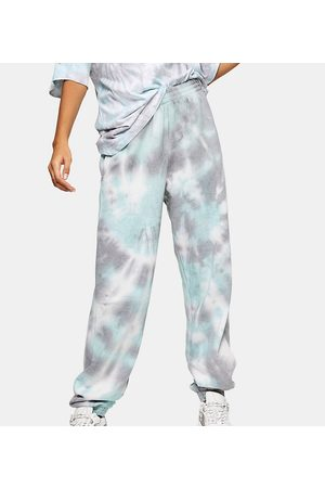 Topshop Tie dye sweatpants in blue-Blues