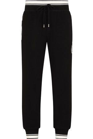 Dolce & Gabbana Crest logo embroidered track pants