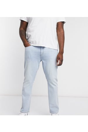 New Look PLUS slim washed blue jeans in blue-Blues