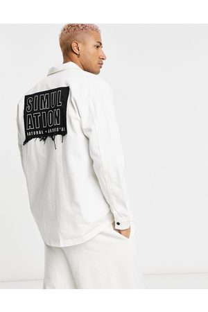 Bershka Simulation overshirt in