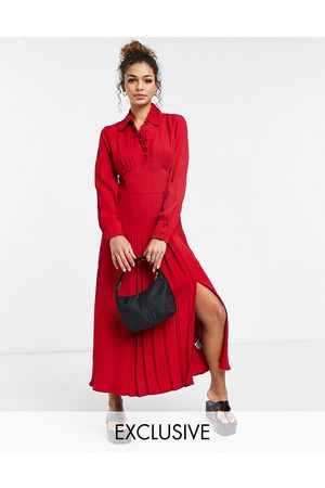 Ghost Claudette dress with long sleeves and side slit in