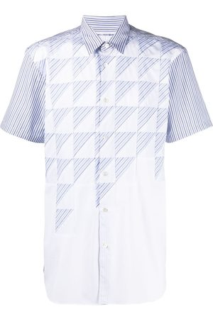 Comme des Garçons Stripe-print short-sleeved shirt