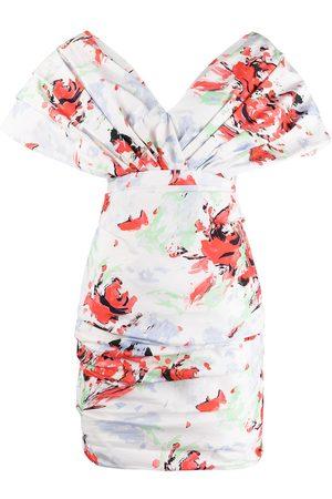 Serafini Off-shoulder floral-print dress