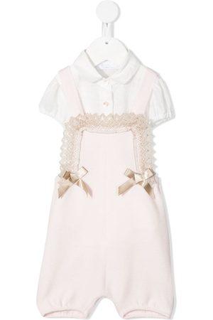 COLORICHIARI Bow-detail short-sleeve babywear body